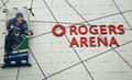 Rogers arena in vancouver canada february is an indoor sports located the downtown area of british columbia Royalty Free Stock Photo