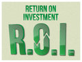 Roi return on investment words a vector based illustration of Stock Photos