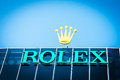Rolex logo sa and its subsidiary montres tudor sa design manufacture distribute and service wristwatches sold under the and tudor Royalty Free Stock Photography