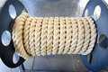 The roll of big and strong rope Royalty Free Stock Photo