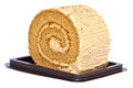 Roll cake in brown package Stock Images