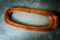 Roll of copper wire Royalty Free Stock Photo