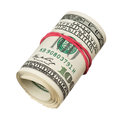 Roll of dollars Royalty Free Stock Photos