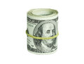 Roll Of Dollars Isolated On A ...