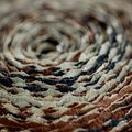Spiral of multicolored corrugated paper rolled up Royalty Free Stock Photo