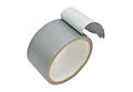 Roll of grey duct tape a with white background Royalty Free Stock Photo