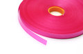 Roll ribbon color pink Stock Photography