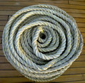 Roll of rope. Royalty Free Stock Images