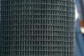 A roll of steel mesh metal fencing beautiful wallpaper background texture Stock Photos
