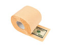 Roll of toilet paper and money Stock Photos