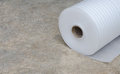 Roll white PU-foam Royalty Free Stock Photo