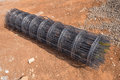 Roll of wire mesh Royalty Free Stock Photo