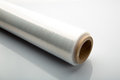 Roll of wrapping plastic stretch film on white background Royalty Free Stock Images
