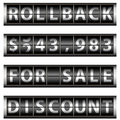Rollback Prices Gauge Royalty Free Stock Photos