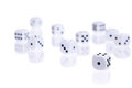 Rolled dice Royalty Free Stock Photo