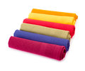 Rolled napkins multicolored isolated on white Royalty Free Stock Photo
