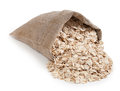 Rolled Oats In A Bag Isolated ...