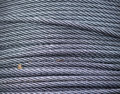 Rolled steel rope closeup Royalty Free Stock Photo