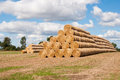 Rolled straw Royalty Free Stock Images