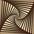 Rolled striped pattern