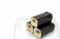 Rolled sushi isolated on a white background Stock Photos