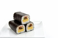 Rolled sushi isolated on a white background Royalty Free Stock Images