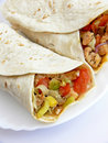 Rolled tortillas Stock Photography