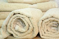 Rolled towels clean and dry cotton Stock Photography