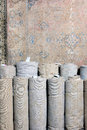 Rolled up Carpets Royalty Free Stock Photo