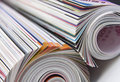 Rolled up magazines Royalty Free Stock Photos