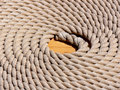 Rolled-up rope Royalty Free Stock Photo