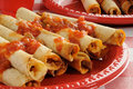 Rolled up tacos Stock Images