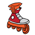 Roller blade Royalty Free Stock Photo