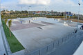 Roller blade park a new skateboarding and blading has just opened in santa pola spain Stock Photo