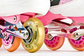 Roller blades close up Royalty Free Stock Photo