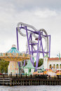 Roller coaster in amusement park Royalty Free Stock Photography