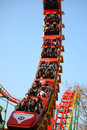 Roller coaster beijing china jan tourist play in amusement park Stock Images