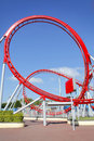 Roller coaster loop Royalty Free Stock Photo