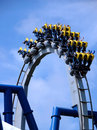 Roller coaster in loop Royalty Free Stock Photo