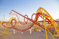 Roller coaster loop at amusement park Royalty Free Stock Photography