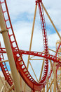Roller Coaster Loop de Loop Royalty Free Stock Photo