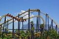 Roller coaster no parque de diversões em África do Sul Fotos de Stock Royalty Free