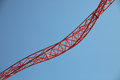 Roller coaster rails Royalty Free Stock Photo