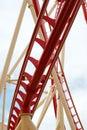 Roller Coaster Track Close Up