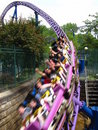 Roller Coaster Tunnel Royalty Free Stock Photography