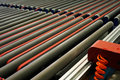 Roller conveyer Royalty Free Stock Photo
