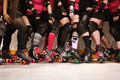 Roller derby team Royalty Free Stock Photo
