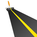 Roller painting road with yellow line vector illustration Royalty Free Stock Photo