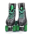 Roller skates a pair of on a white background Royalty Free Stock Image