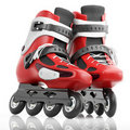 Roller Skates Red Royalty Free Stock Photos